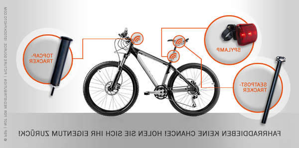 gps tracker bicycle frame